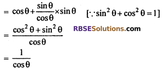 RBSE Solutions for Class 10 Maths Chapter 7 Trigonometric Identities Ex 7.1 22