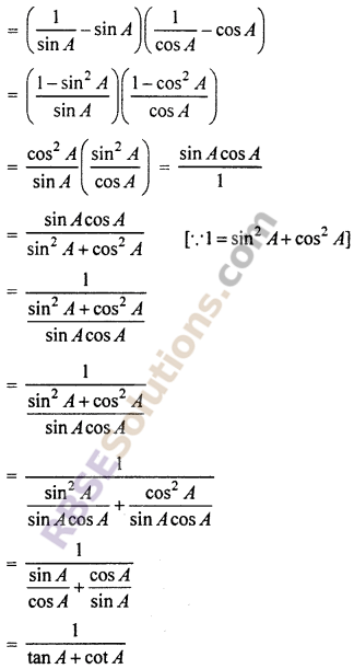 RBSE Solutions for Class 10 Maths Chapter 7 Trigonometric Identities Ex 7.1 36
