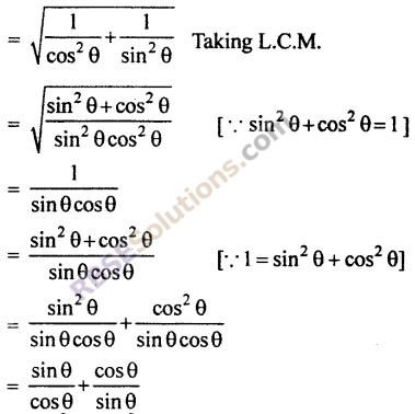 RBSE Solutions for Class 10 Maths Chapter 7 Trigonometric Identities Ex 7.1 9