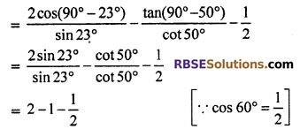 RBSE Solutions for Class 10 Maths Chapter 7 Trigonometric Identities Ex 7.2 5