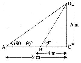 RBSE Solutions for Class 10 Maths Chapter 8 ऊँचाई और दूरी Ex 8 32