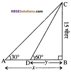 RBSE Solutions for Class 10 Maths Chapter 8 ऊँचाई और दूरी Ex 8 37