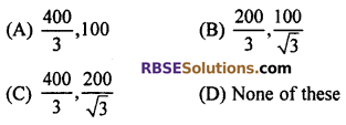 RBSE Solutions for Class 10 Maths Chapter 8 Height and Distance Additional Questions 16