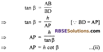 RBSE Solutions for Class 10 Maths Chapter 8 Height and Distance Additional Questions 42