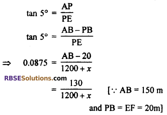 RBSE Solutions for Class 10 Maths Chapter 8 Height and Distance Additional Questions 59