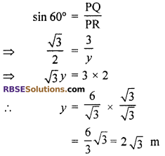 RBSE Solutions for Class 10 Maths Chapter 8 Height and Distance Additional Questions 68