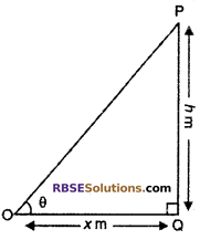 RBSE Solutions for Class 10 Maths Chapter 8 Height and Distance Additional Questions 7