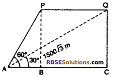 RBSE Solutions for Class 10 Maths Chapter 8 Height and Distance Additional Questions 72
