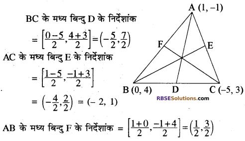RBSE Solutions for Class 10 Maths Chapter 9 निर्देशांक ज्यामिति Additional Questions 11