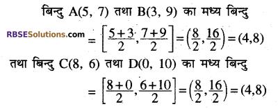 RBSE Solutions for Class 10 Maths Chapter 9 निर्देशांक ज्यामिति Additional Questions 13