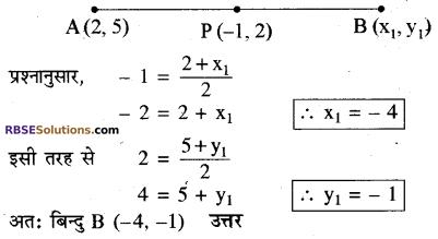 RBSE Solutions for Class 10 Maths Chapter 9 निर्देशांक ज्यामिति Additional Questions 23