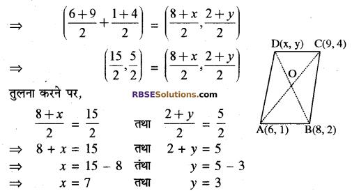 RBSE Solutions for Class 10 Maths Chapter 9 निर्देशांक ज्यामिति Additional Questions 27