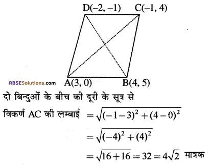 RBSE Solutions for Class 10 Maths Chapter 9 निर्देशांक ज्यामिति Additional Questions 30