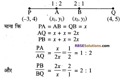 RBSE Solutions for Class 10 Maths Chapter 9 निर्देशांक ज्यामिति Additional Questions 32