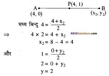 RBSE Solutions for Class 10 Maths Chapter 9 निर्देशांक ज्यामिति Additional Questions 6