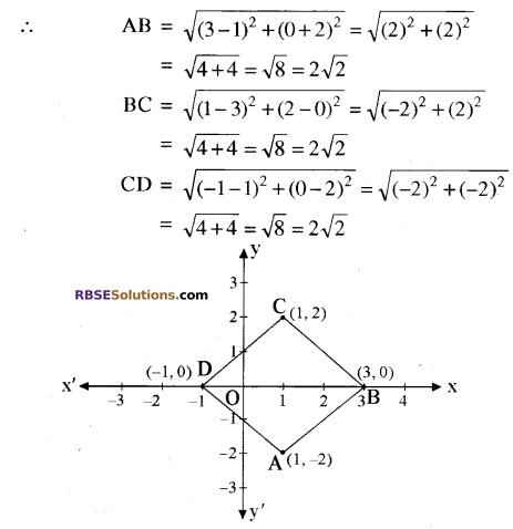 RBSE Solutions for Class 10 Maths Chapter 9 निर्देशांक ज्यामिति Ex 9.1 11