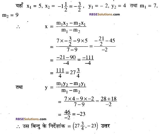 RBSE Solutions for Class 10 Maths Chapter 9 निर्देशांक ज्यामिति Ex 9.2 2