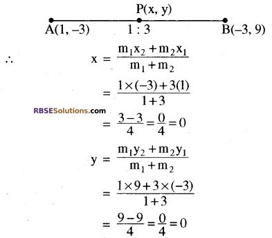 RBSE Solutions for Class 10 Maths Chapter 9 निर्देशांक ज्यामिति Ex 9.2 3