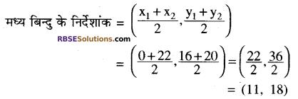 RBSE Solutions for Class 10 Maths Chapter 9 निर्देशांक ज्यामिति Ex 9.2 5
