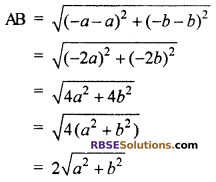 RBSE Solutions for Class 10 Maths Chapter 9 Co-ordinate Geometry Additional Questions 18