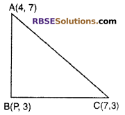 RBSE Solutions for Class 10 Maths Chapter 9 Co-ordinate Geometry Additional Questions 31