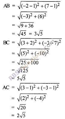 RBSE Solutions for Class 10 Maths Chapter 9 Co-ordinate Geometry Additional Questions 33