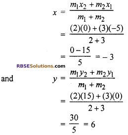RBSE Solutions for Class 10 Maths Chapter 9 Co-ordinate Geometry Additional Questions 35