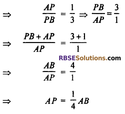 RBSE Solutions for Class 10 Maths Chapter 9 Co-ordinate Geometry Additional Questions 4