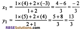 RBSE Solutions for Class 10 Maths Chapter 9 Co-ordinate Geometry Additional Questions 40