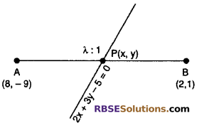 RBSE Solutions for Class 10 Maths Chapter 9 Co-ordinate Geometry Additional Questions 44