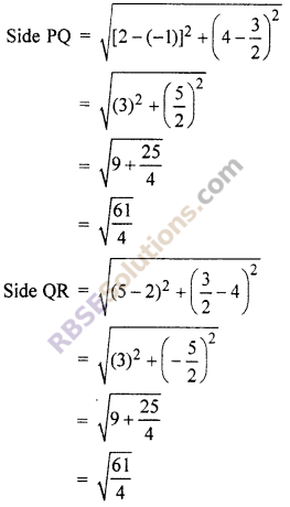 RBSE Solutions for Class 10 Maths Chapter 9 Co-ordinate Geometry Additional Questions 49