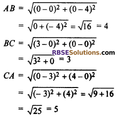 RBSE Solutions for Class 10 Maths Chapter 9 Co-ordinate Geometry Additional Questions 5