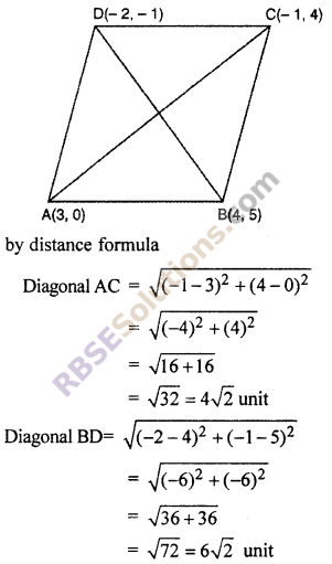RBSE Solutions for Class 10 Maths Chapter 9 Co-ordinate Geometry Additional Questions 64