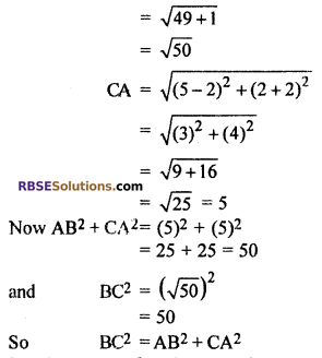 RBSE Solutions for Class 10 Maths Chapter 9 Co-ordinate Geometry Ex 9.1 12