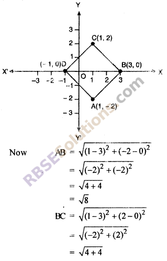 RBSE Solutions for Class 10 Maths Chapter 9 Co-ordinate Geometry Ex 9.1 13