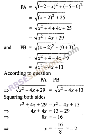 RBSE Solutions for Class 10 Maths Chapter 9 Co-ordinate Geometry Ex 9.1 19