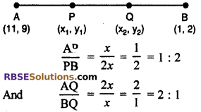 RBSE Solutions for Class 10 Maths Chapter 9 Co-ordinate Geometry Ex 9.2 13