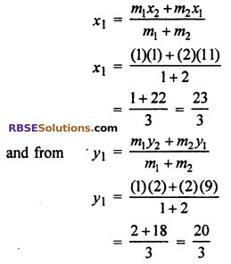 RBSE Solutions for Class 10 Maths Chapter 9 Co-ordinate Geometry Ex 9.2 14