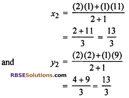RBSE Solutions for Class 10 Maths Chapter 9 Co-ordinate Geometry Ex 9.2 15