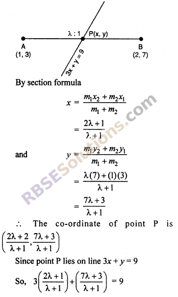 RBSE Solutions for Class 10 Maths Chapter 9 Co-ordinate Geometry Ex 9.2 18