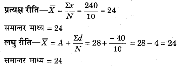 RBSE Solutions for Class 11 Economics Chapter 8 समान्तर माध्य 15