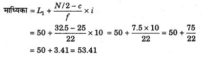 RBSE Solutions for Class 11 Economics Chapter 9 माध्यिका 52