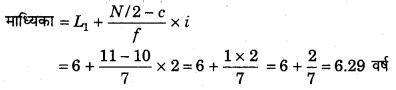 RBSE Solutions for Class 11 Economics Chapter 9 माध्यिका 56
