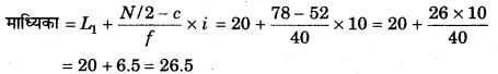 RBSE Solutions for Class 11 Economics Chapter 9 माध्यिका 60