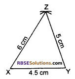 RBSE Solutions for Class 7 Maths Chapter 10 Construction of Triangles In Text Exercise - 1