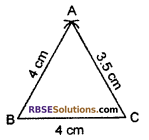 RBSE Solutions for Class 7 Maths Chapter 10 Construction of Triangles In Text Exercise - 3