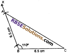 RBSE Solutions for Class 7 Maths Chapter 10 Construction of Triangles In Text Exercise - 5