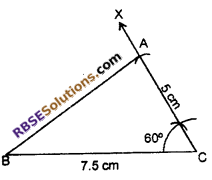 RBSE Solutions for Class 7 Maths Chapter 10 Construction of Triangles In Text Exercise - 6