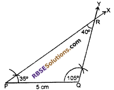 RBSE Solutions for Class 7 Maths Chapter 10 Construction of Triangles In Text Exercise - 8