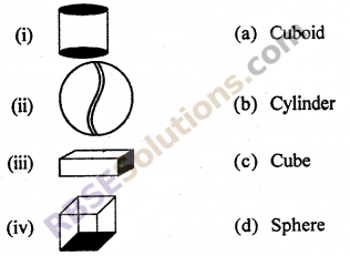 RBSE Solutions for Class 7 Maths Chapter 12 Visualizing Solid Shapes Additional Questions - 1